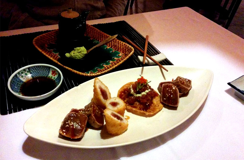 Gastronomía del restaurante Nippon de Puerto del Carmen, Lanzarote