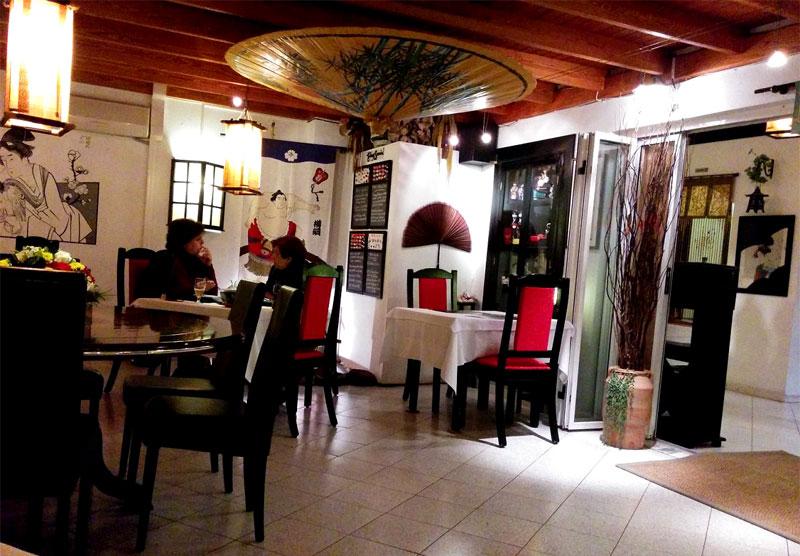 Salón principal del restaurante Nippon de Puerto del Carmen, comida japonesa en Lanzarote
