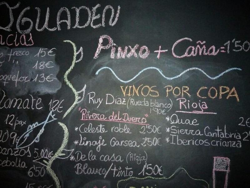 La carta y las sugerencias de Iguaden Restaurante, Tías, Lanzarote