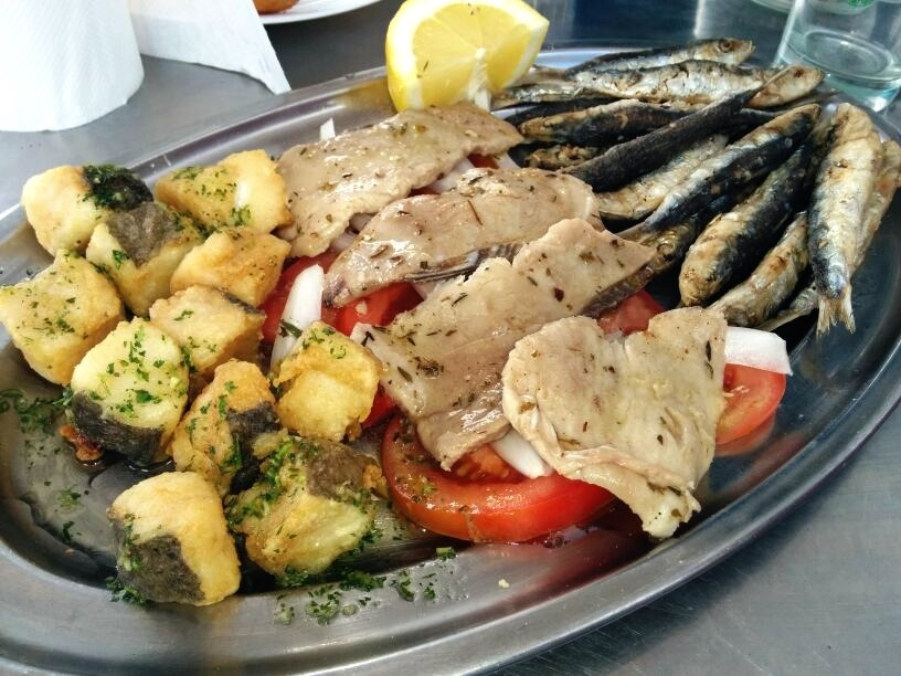 "Bandeja ""three-fish"" made in Lanzarote"