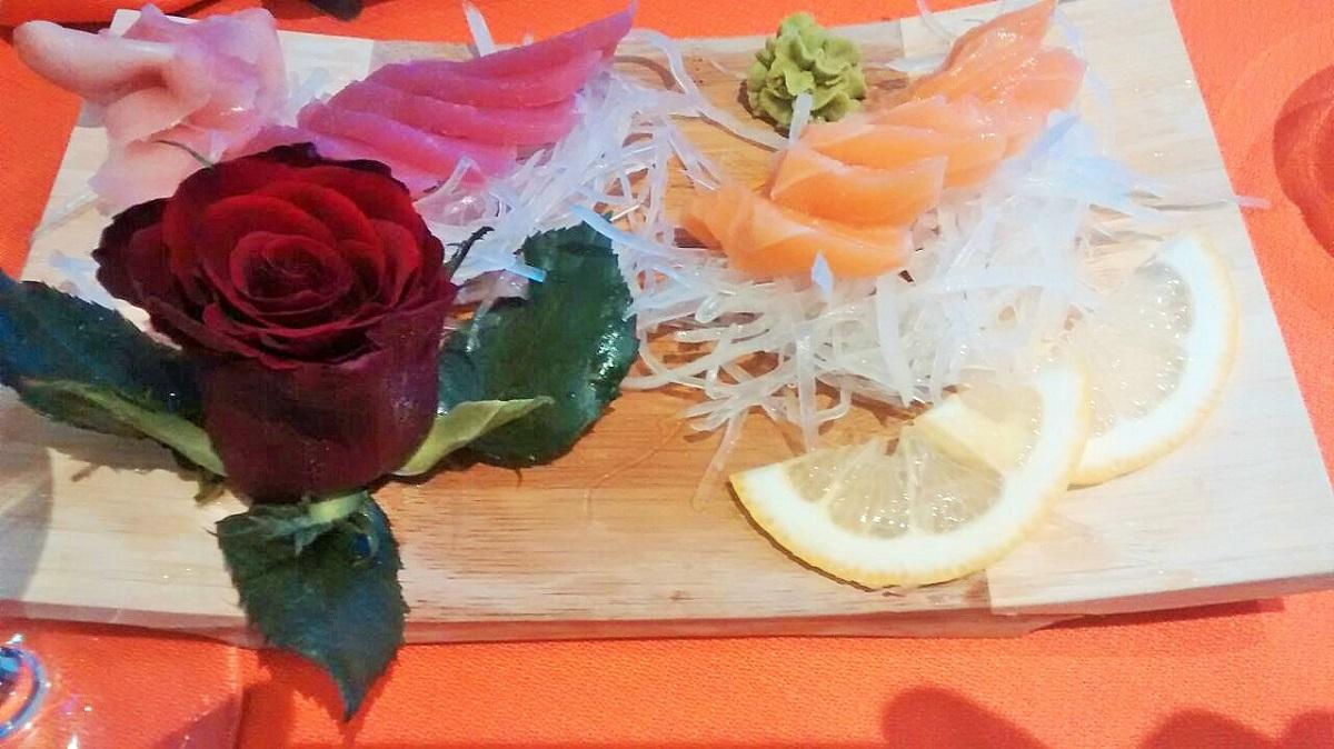 Tabla degustacion con salmon que parece mantequilla